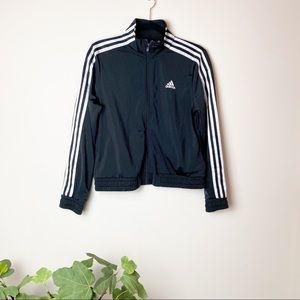 ADIDAS ESS zip up track jacket 3 stripes In black